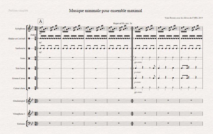 Musique minimale pour Ensemble maximal – Youri Rosset