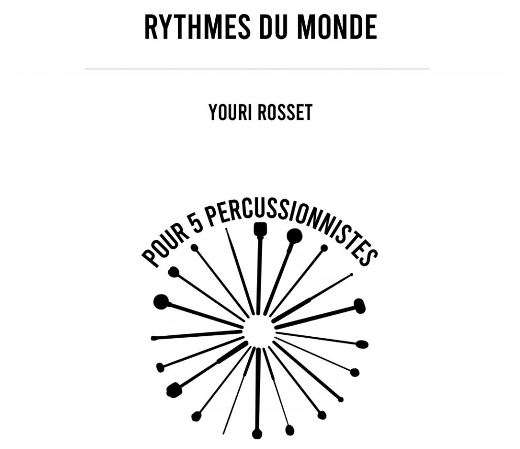 Rythmes du Monde – Youri Rosset